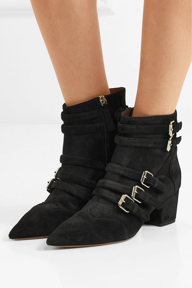 Tabitha Simmons Christy Ankle Boots aus Veloursleder mit Schnallen