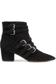 Christy buckled suede ankle boots