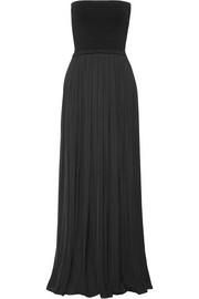 Elizabeth and James Emmaline ribbed-knit and crepe de chine maxi dress