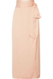 Elizabeth and James Almeria satin wrap maxi skirt