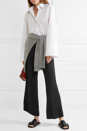Elizabeth and James Carel cropped stretch-jersey flared pants