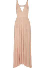 Ellison smocked satin maxi dress