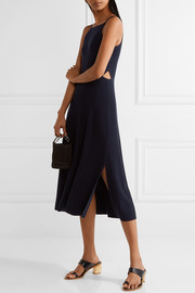 Josette cutout ribbed merino wool-blend midi dress