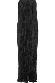 Denver plissé crepe de chine maxi dress