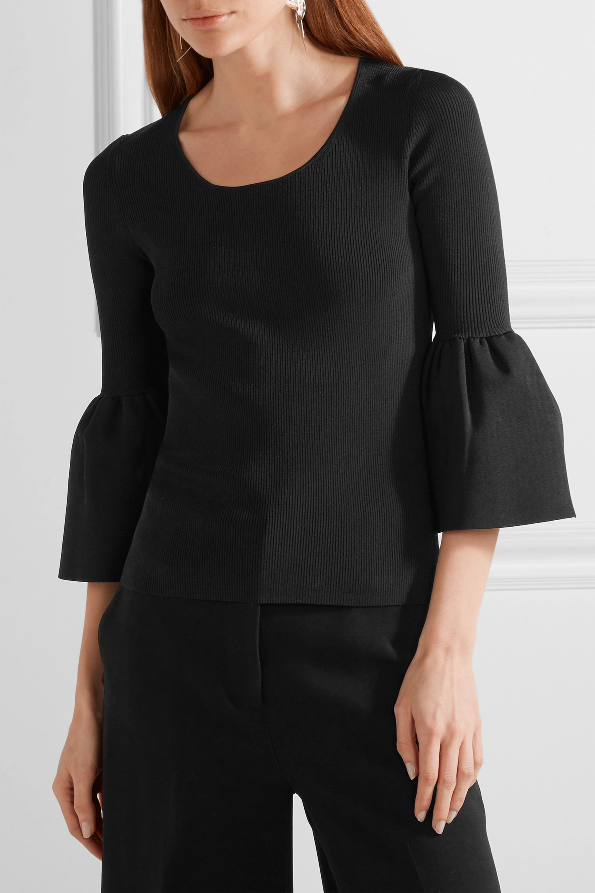 Elizabeth and James Willow ribbed-knit top