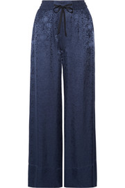Elizabeth and James Whittier satin-jacquard wide-leg pants