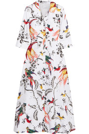 Kaisa printed cotton-poplin midi dress