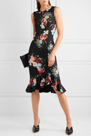 Erdem Louisa floral-print neoprene dress