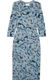 Allegra printed stretch-ponte dress