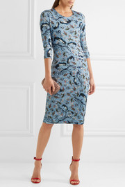Erdem Allegra printed stretch-ponte dress