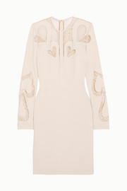 Elie Saab Lace-paneled crepe dress