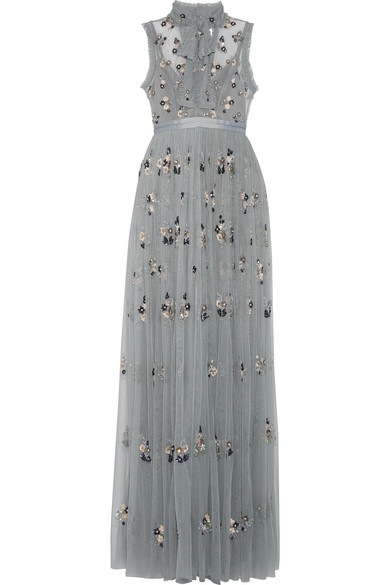 Carlybow Nails: Ditsy Pussy-bow Embellished Tulle Gown