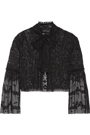 Needle & Thread Primrose embroidered tulle jacket