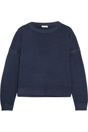 Tomas Maier Convertible zip-embellished wool sweater