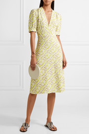 Tomas Maier Printed crepe dress