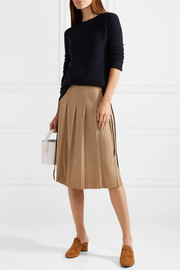Tomas Maier Pleated wool midi skirt