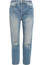 FRAME Rigid Re-Release Le Original distressed high-rise straight-leg jeans