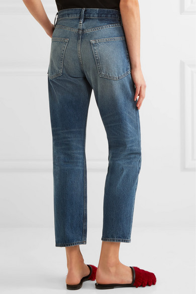 Frame Le Original Cropped High Rise Straight Leg Jeans