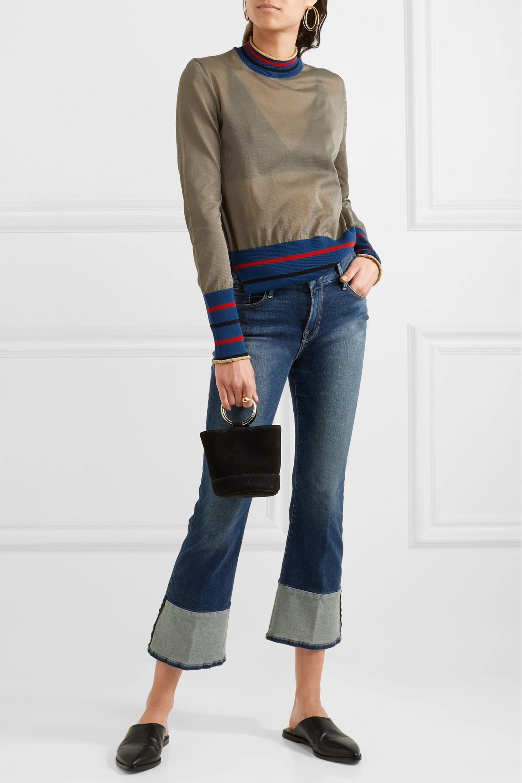 FRAME Le Crop Mini mid-rise bootcut jeans