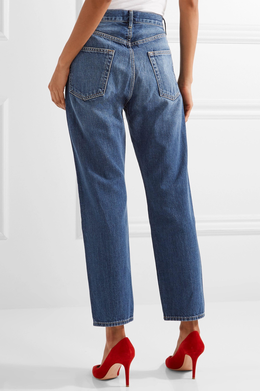 FRAME Le Original cropped high-rise straight-leg jeans