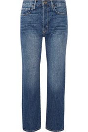 FRAME Le Original cropped high-rise straight-leg jeans