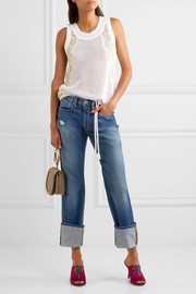 Le Oversized Cuff high-rise straight-leg jeans