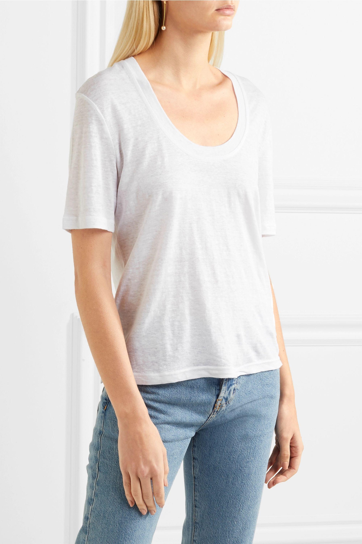 FRAME Slub linen T-shirt