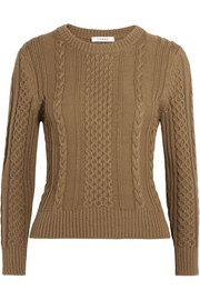Cable-knit Pima cotton sweater