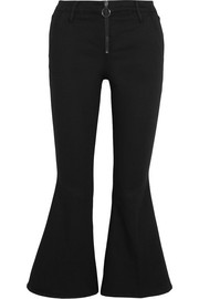 Le Crop Bell mid-rise flared jeans