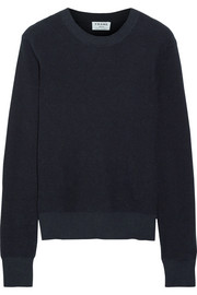 FRAME Waffle-knit cotton and cashmere-blend sweater