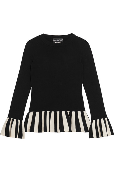 Boutique Moschino - Striped Knitted Sweater - Black
