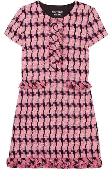 Boutique Moschino - Tweed Mini Dress - Fuchsia