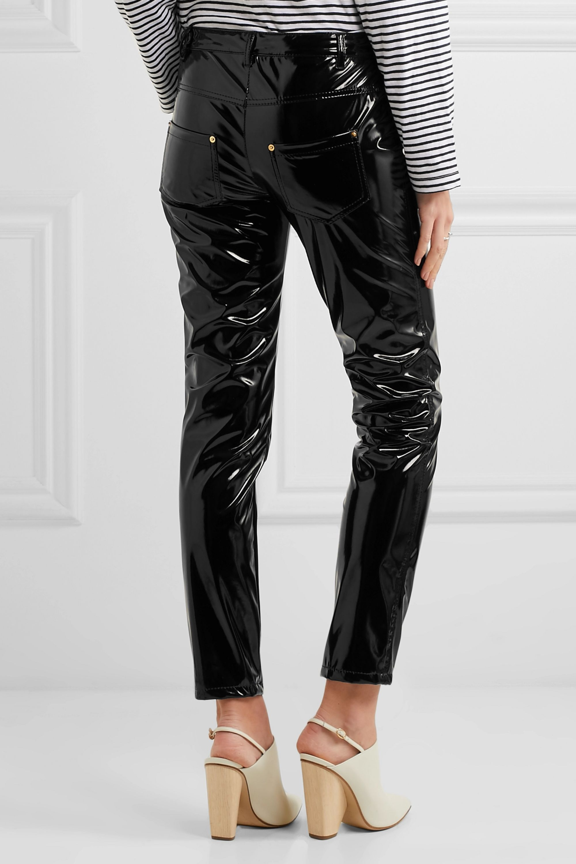 Boutique Moschino Vinyl skinny pants