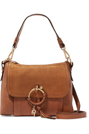 See by Chloé Joan small suede-paneled leather shoulder bag