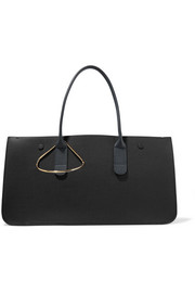 Louise textured-leather tote