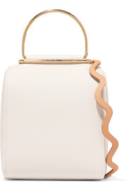 Besa textured-leather shoulder bag
