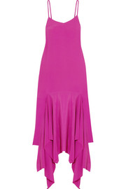 Wyatt asymmetric crepe maxi dress