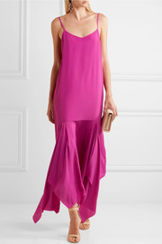Wyatt asymmetric crepe midi dress