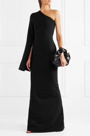 Ysabel one-shoulder crepe gown