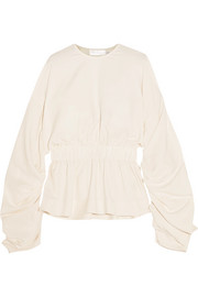 Solace London Macy ruched crepe top