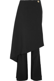 Solace London Sydney layered crepe flared pants