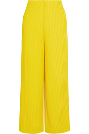 Solace London Celie ribbed crepe wide-leg pants