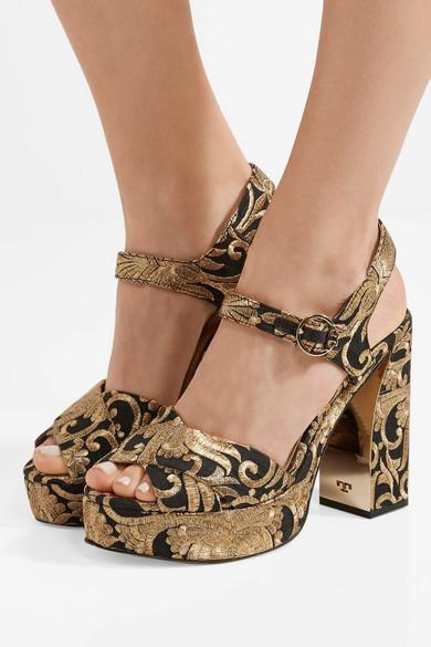e2b6579b82b Tory Burch. Loretta brocade platform sandals