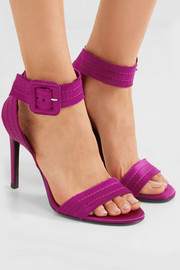 Pedro Garcia Catalina frayed satin sandals