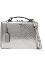 Mark Cross Grace small metallic python shoulder bag