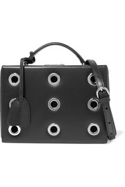 Grace small eyelet-embellished leather shoulder bag