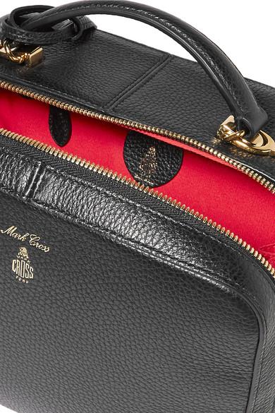 Mark Cross Laura Schultertasche aus strukturiertem Leder Schnelle Lieferung Online 2vcOQuVs