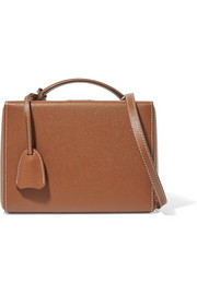 Grace small textured-leather shoulder bag