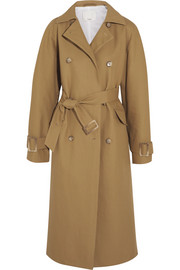 Oversized cotton-canvas trench coat