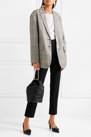 Jasper oversized checked woven blazer